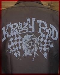 """KRAZY ROD【S/S KUSTOM WORK SHIRT】 """"SKULL RACER"""""""
