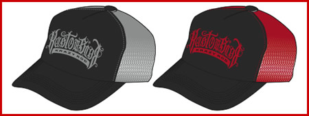 KRAZY ROD '08 NEW MESH CAP デザイン案