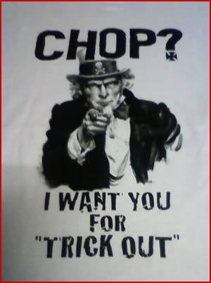 """T-SHIRT """"CHOP?"""" SAMPLE"""