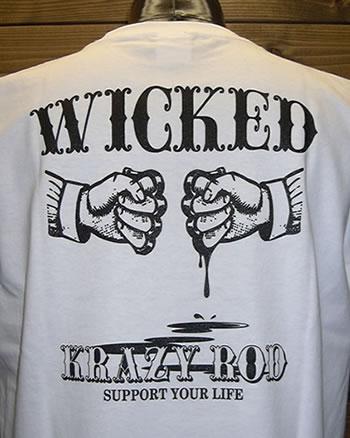 KRAZY ROD Tシャツ パニシュメント WH