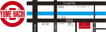YUME-HACHI 地図
