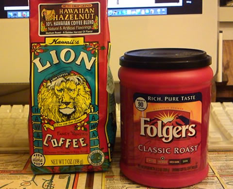 LION & FOLGERS COFFEE